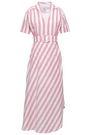 GÜL HÜRGEL Striped linen and cotton-blend midi dress