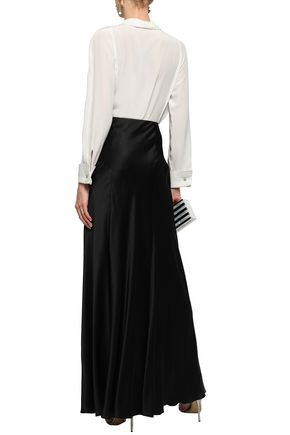 ALBERTA FERRETTI Pussy-bow silk crepe de chine blouse