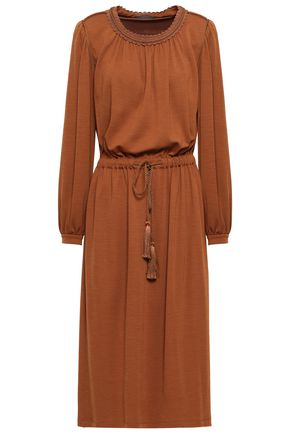 ALBERTA FERRETTI Gathered jersey midi dress