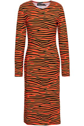 HOUSE OF HOLLAND Tiger-print stretch-cotton jersey dress