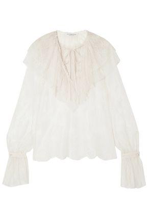 PHILOSOPHY di LORENZO SERAFINI Ruffled lace blouse