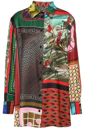 BOUTIQUE MOSCHINO Printed silk-satin shirt