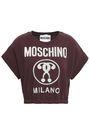 MOSCHINO Printed cotton-blend jersey T-shirt