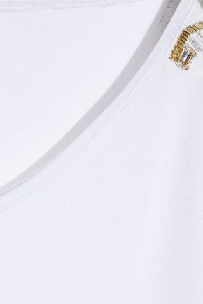 TEMPERLEY LONDON Vita embellished stretch-jersey T-shirt