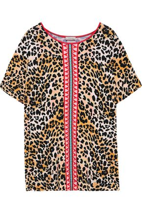 TEMPERLEY LONDON Vita printed stretch-jersey T-shirt