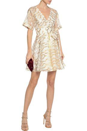 7bf62835192e TEMPERLEY LONDON Tapis wrap-effect metallic fil coupé silk-blend mini dress