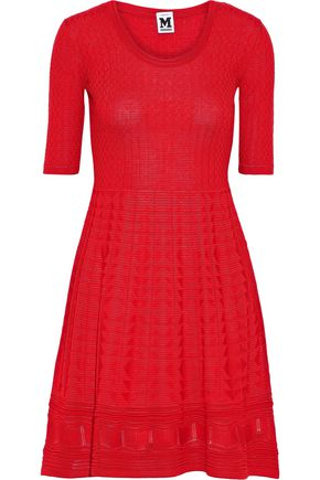 M MISSONI Crocheted wool-blend mini dress
