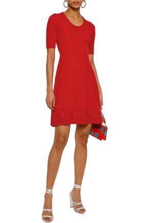 M MISSONI Crocheted wool-blend mini dress