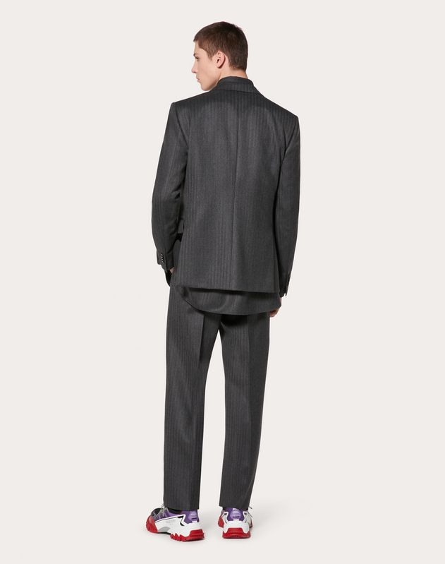 TWO-BUTTON WOOL SUIT