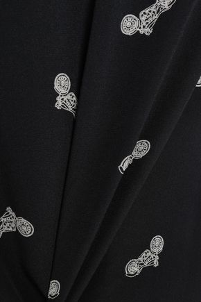 L'AGENCE Jane printed silk crepe de chine camisole