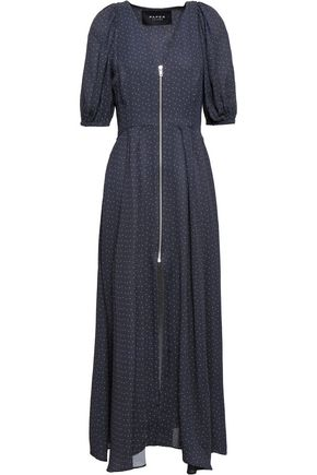 PAPER London Polka-dot crepe midi dress