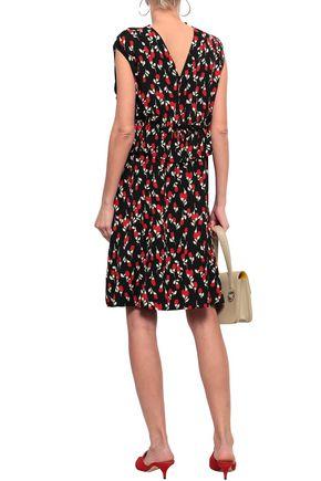 MARNI Ruffled floral-print crepe dress