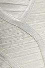 HERVÉ LÉGER Cutout metallic bandage maxi dress