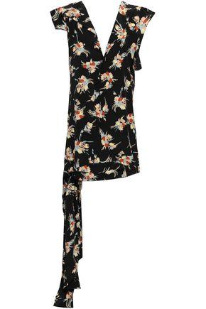 MARNI Ruffled floral-print silk crepe de chine tunic