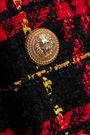 BALMAIN Button-embellished houndstooth tweed mini dress