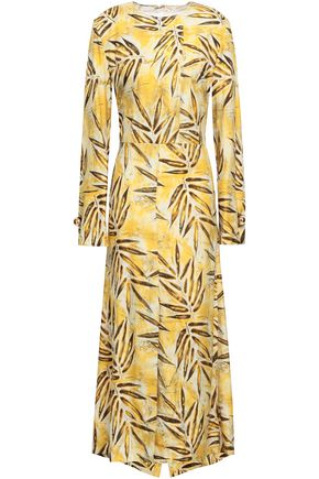 MARNI Abma wrap-effect printed silk maxi dress