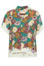 MARNI Floral-print silk-georgette shirt