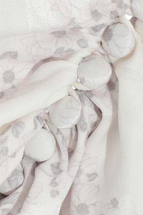 MAGDA BUTRYM Cefalu floral-print silk-jacquard peplum blouse