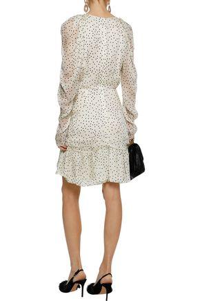 MAGDA BUTRYM Minsk ruffled polka-dot silk-georgette mini dress
