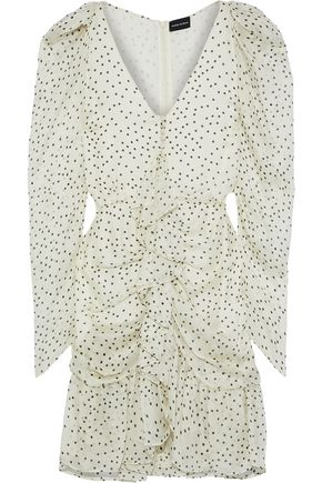 MAGDA BUTRYM Minsk ruffled polka-dot silk-georgette mini dress
