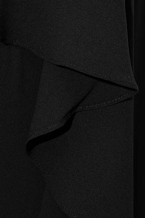 HALSTON HERITAGE Strapless layered crepe jumpsuit