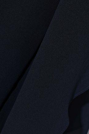 HALSTON HERITAGE Draped georgette jumpsuit