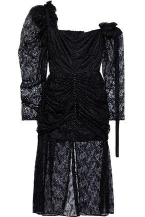 MAGDA BUTRYM Haman one-shoulder ruched lace midi dress