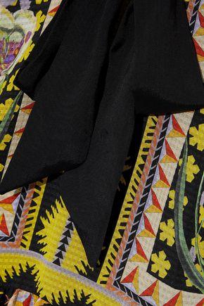TEMPERLEY LONDON Odyssey cold-shoulder printed seersucker midi dress