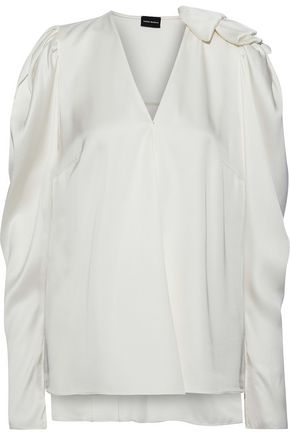 MAGDA BUTRYM Sapporo ruffle-trimmed silk-satin blouse