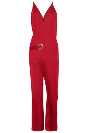 BALMAIN Wrap-effect stretch-knit jumpsuit