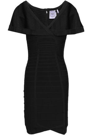 HERVÉ LÉGER فستان قصير بتصميم ضيق وملفوف