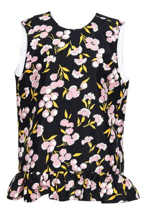 MARNI Floral-print cotton and silk-blend top