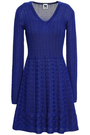M MISSONI Crocheted wool-blend dress