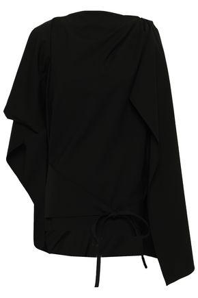 ROSIE ASSOULIN Cape-effect stretch-wool top