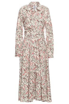 ROSIE ASSOULIN Printed cotton-blend poplin midi shirt dress