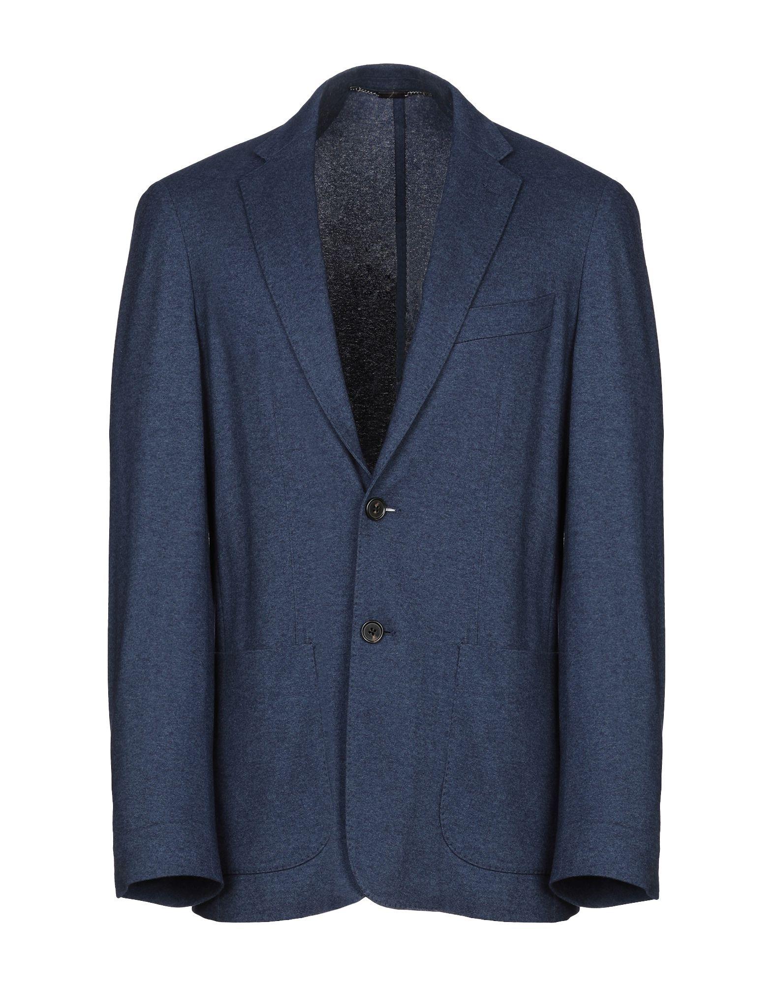 《セール開催中》CORNELIANI ID メンズ テーラードジャケット ブルー 50 カシミヤ 50% / シルク 50%
