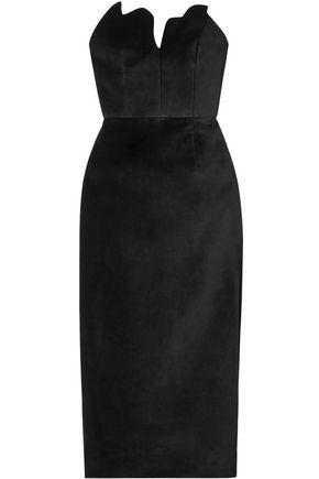 ROSIE ASSOULIN Strapless velvet midi dress