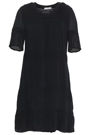 JAMES PERSE Pintucked voile mini dress
