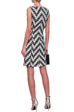 OSCAR DE LA RENTA Cotton-blend jacquard dress