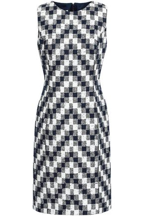 OSCAR DE LA RENTA Cotton-blend jacquard dress