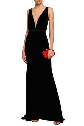 OSCAR DE LA RENTA Velvet gown