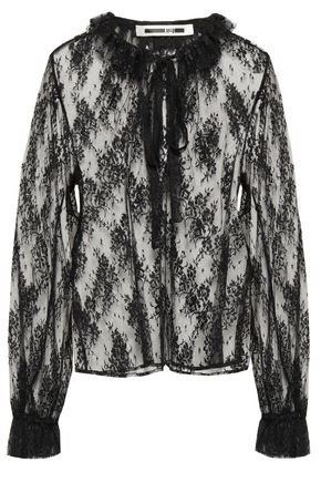 McQ Alexander McQueen Ruffled lace blouse