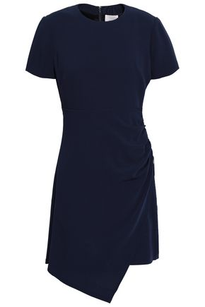CINQ À SEPT Ruched crepe mini dress