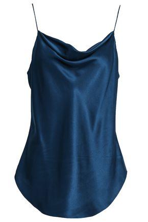 894328570c2caa CINQ À SEPT Draped silk-satin camisole