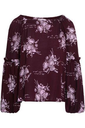 CINQ À SEPT Amelie floral-print crepe de chine blouse