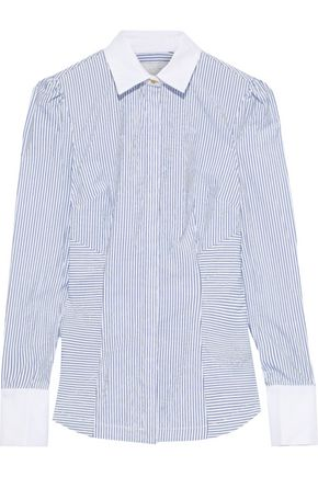 REBECCA VALLANCE Cassia striped cotton-poplin shirt