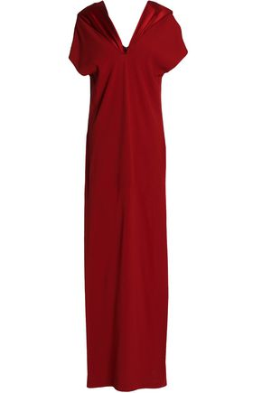 CHALAYAN Satin-trimmed crepe gown
