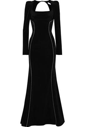 REBECCA VALLANCE Ivy cutout faille gown