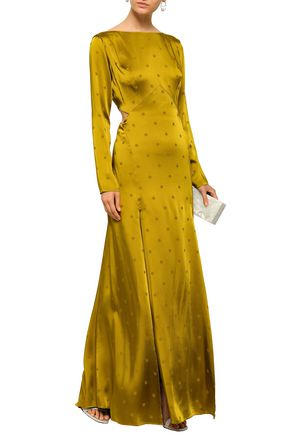 TEMPERLEY LONDON Betty cutout satin-jacquard gown