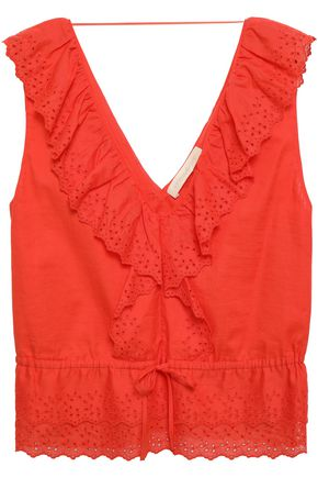 VANESSA BRUNO Ruffled broderie anglaise cotton top